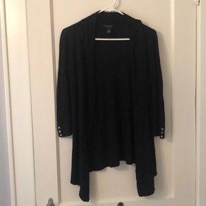 WHBM Black open cardigan